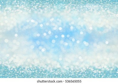 Abstract of Bright and sparkling bokeh background. blue bokeh-blurred lighting from glitter texture. Luxury design background.