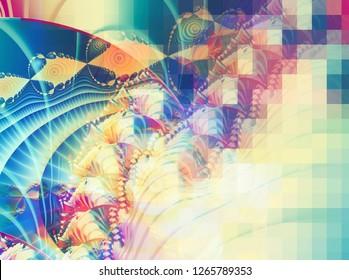 Abstract bright vitage multicolored background. Elegant illustration.