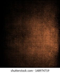 abstract brown background canvas texture with brush strokes vintage grunge background texture, distressed messy black vignette border, brown color spotlight with copy space, country western background