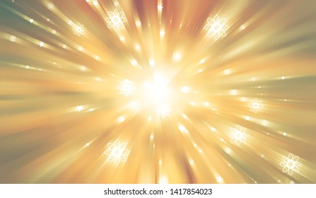Abstract brown background. Explosion star. illustration digital.