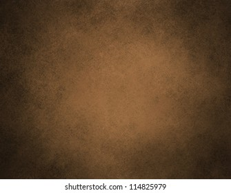 abstract brown background or brown paper with warm center spotlight and black vignette border frame of vintage grunge background texture layout design of dark sepia graphic art paint wallpaper for web