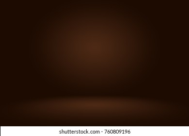 Abstract brown gradient well used as background for product display.