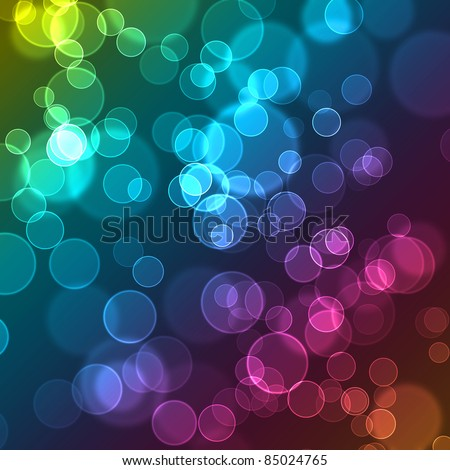 Abstract Bubbles Cute Colorful Wallpaper Contain Several Colors