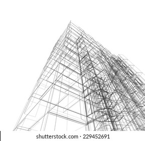 Abstract building. Architecture design and model my own