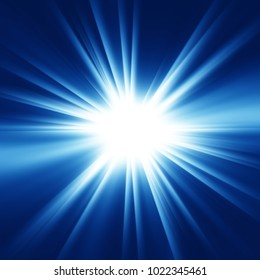 Abstract burst background, shining exploding star