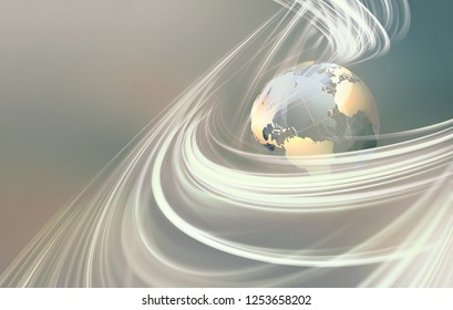 abstract business background with glass world. 3D image.