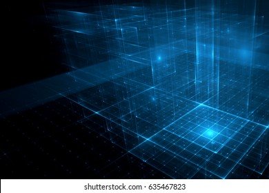 Abstract business science or technology background. 3D illustration.