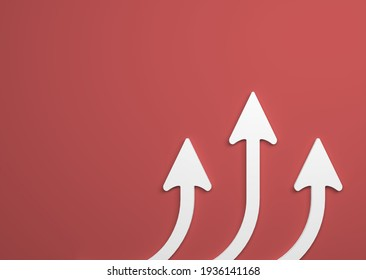 abstract business symbol with arrows in front of background - 3D Illustration