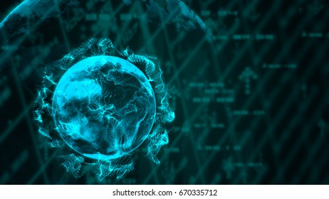 abstract business and technology concept,futuristic background
