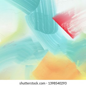 Abstract canvas with wide brush strokes. 3D rendering