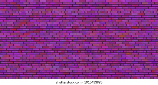 Abstract cartoon violet pink purple brick wall paper in seamless design or ceramic tails design