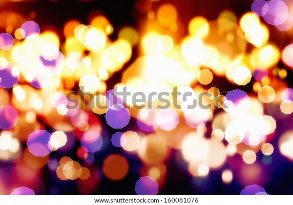 Abstract celebration background - defocused colorful flashing lights, christmas lights, xmas lights
