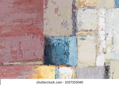 Abstract chaos painting design wallpaper. Oil painting. High resolution photo.