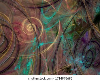 abstract chaotic fractal background 3D rendering