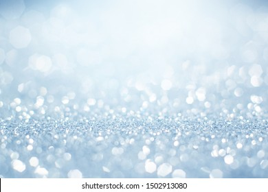 Abstract of christmas with blue bokeh background