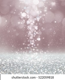 Abstract of Christmas with bokeh light background.