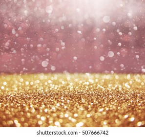 Abstract of christmas and bokeh light with glitter background.