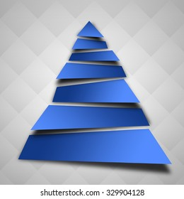 An abstract christmas tree illustration.
