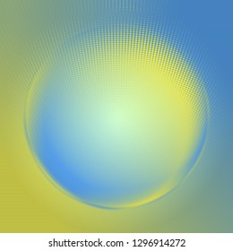 Abstract circle blue and yellow