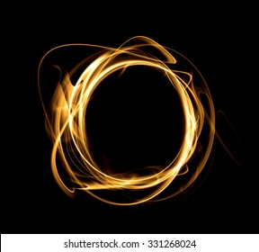 Abstract circle on a black background