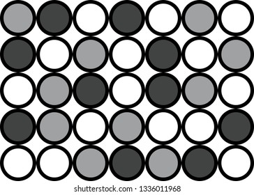 Abstract circle pattern grid with grey colours - illustration