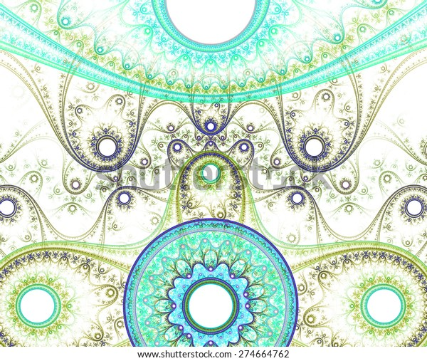 Abstract Circular Light Pastel Cyangreenyellow Pattern