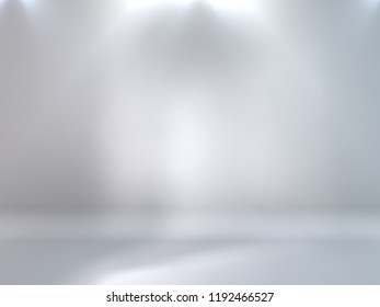 Abstract clean studio background with illumination