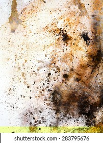 abstract color Backgrounds, painting colage with spots, rust structure.