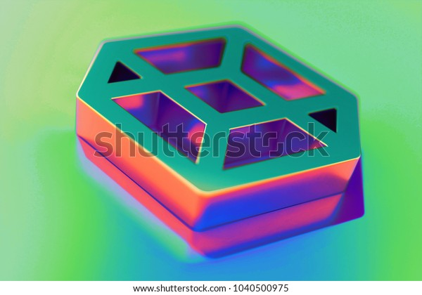 Abstract Color Codepen Icon Colorful Reflections Stock