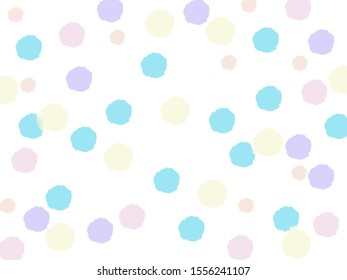 Abstract of color drop from watercolor on white background, Pastel tone.
