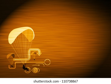 Abstract color Parachute sport background with space