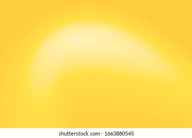 Abstract color pastel mellow yellow gradient texture background.  Gradation white orange gold light for display product ad website wallpaper poster.
