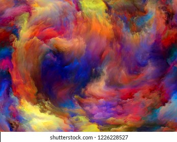 Abstract Color series. Abstract background made of colorful paint in motion on canvas for use with projects on art, creativity and imagination