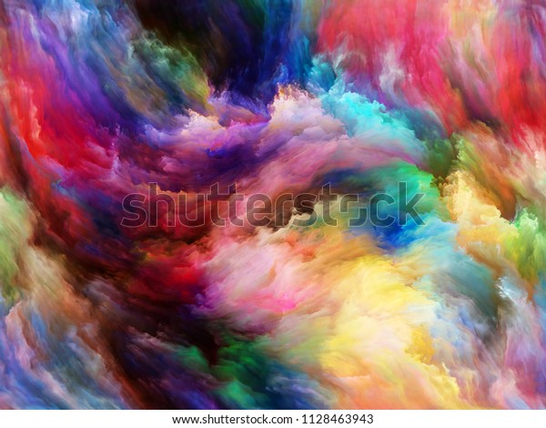 Abstract Color Series Composition Colorful Paint Stock Image