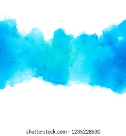 abstract color shades blue watercolor.on paper image