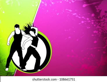 Zumba party dance training invitation advert stock illustration abstract color zumba fitness dance background with space stopboris Image collections