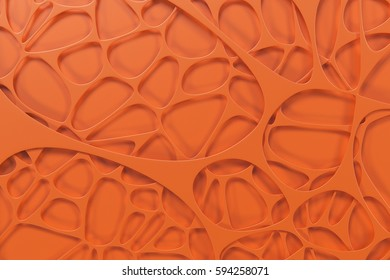 Abstract colored 3d voronoi organic structure. Chaotic structure. 3D render illustration