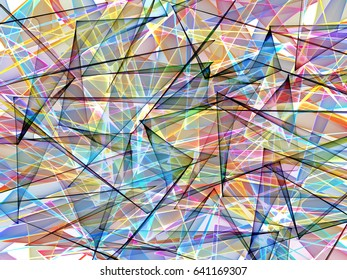 abstract colored glass