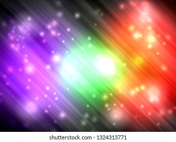 Abstract colorful aurora with light glister background.