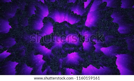 Abstract Colorful Background Fantastic Dark Fluorescent Luminous Matter 3D Illustration Wallpaper