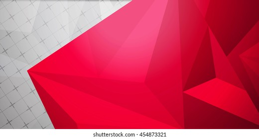 abstract colorful background geometric rumpled triangular low poly style graphic Raster polygonal design for your business red