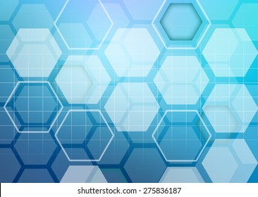Abstract colorful background of hexagonal shapes in the form of honeycombs