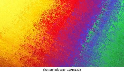 abstract colorful background, rainbow colors of yellow red orange blue purple green in streaky messy pattern of vintage grunge background texture retro design, tie dye background or web design banner