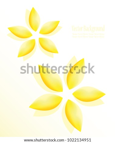 Abstract Colorful Flowers Symbol Harmony Purity Stock Illustration