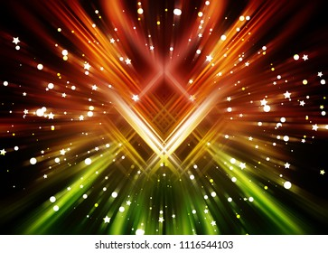 Abstract colorful fractal composition. Motion illustration. Illustration for design.