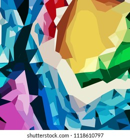 Abstract colorful geometric design  background. Use for template modern design, cover, poster, brochure, decorated, flyer.