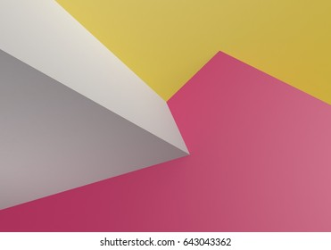 Abstract colorful geometric minimalistic overlapping surface 3D background