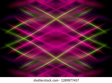 Abstract colorful graphic background with bright сrossed lines. Illustration for design.