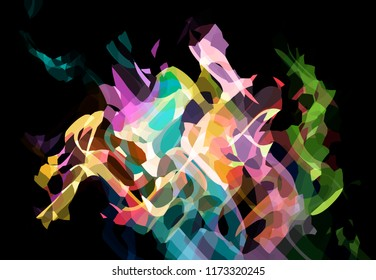 Abstract colorful graphic background. Illustration for design.