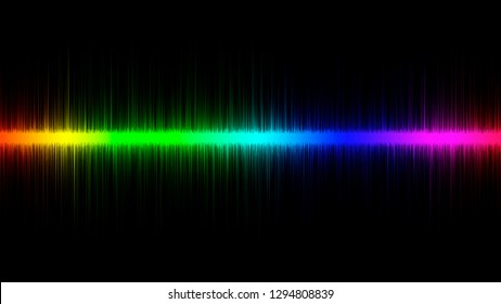 Abstract colorful horizontal sound wave line equalizer background. Music wave lines.